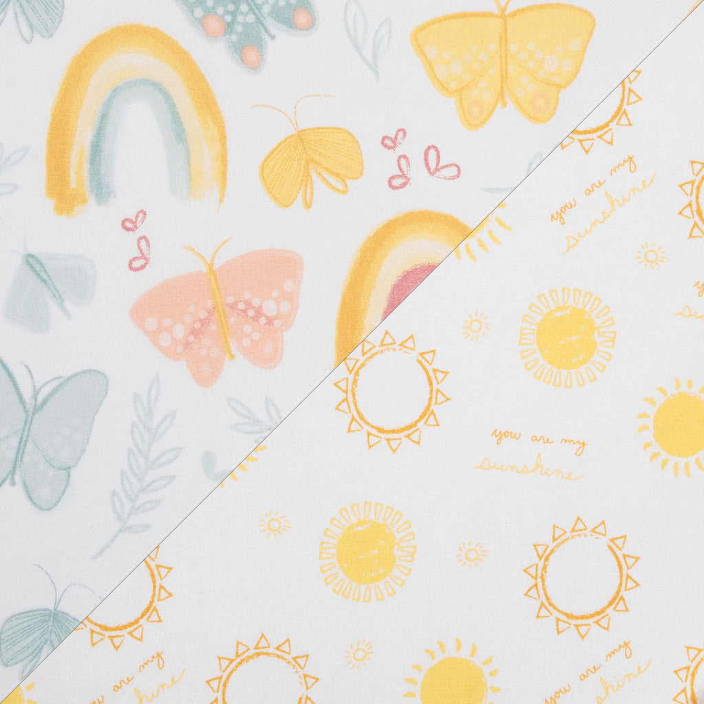 Butterflies & Sunshine 2-Pack Microfiber Fitted Crib Sheet Set by Sammy and Lou55459$17.99Trend Lab