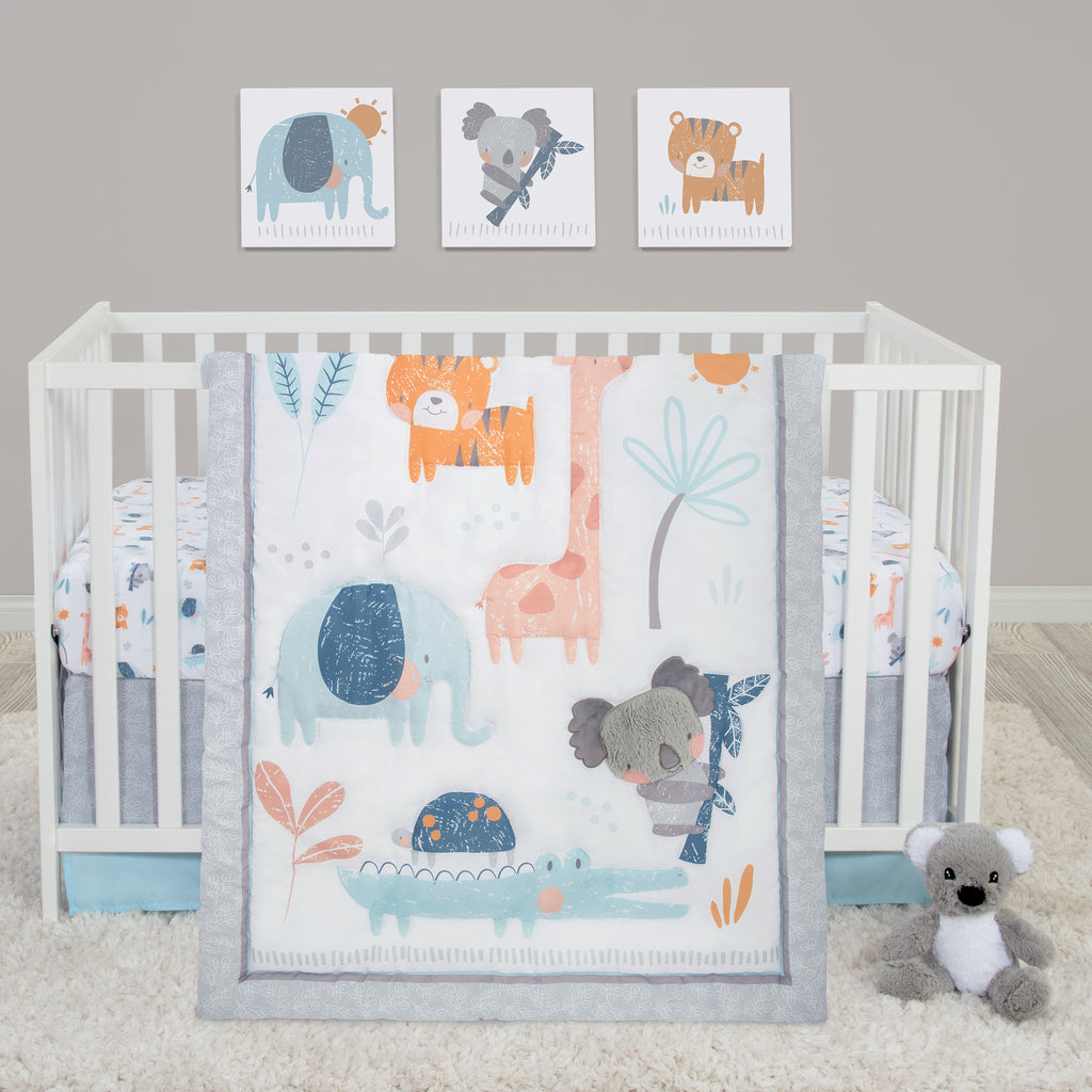 Koala and Friends Crib Bedding Set In Room