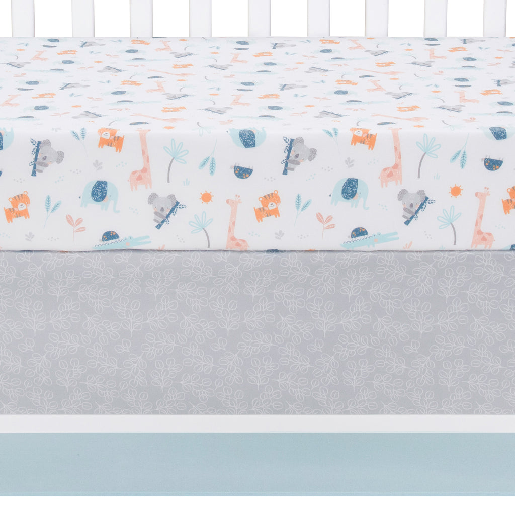 Koala and Friends Crib Sheet and Skirt