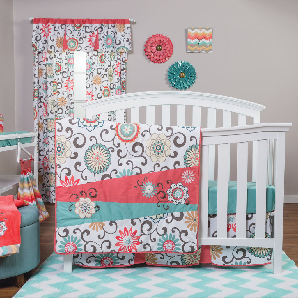 Waverly® Pom Pom Play 4 Piece Crib Bedding Set Trend Lab, LLC