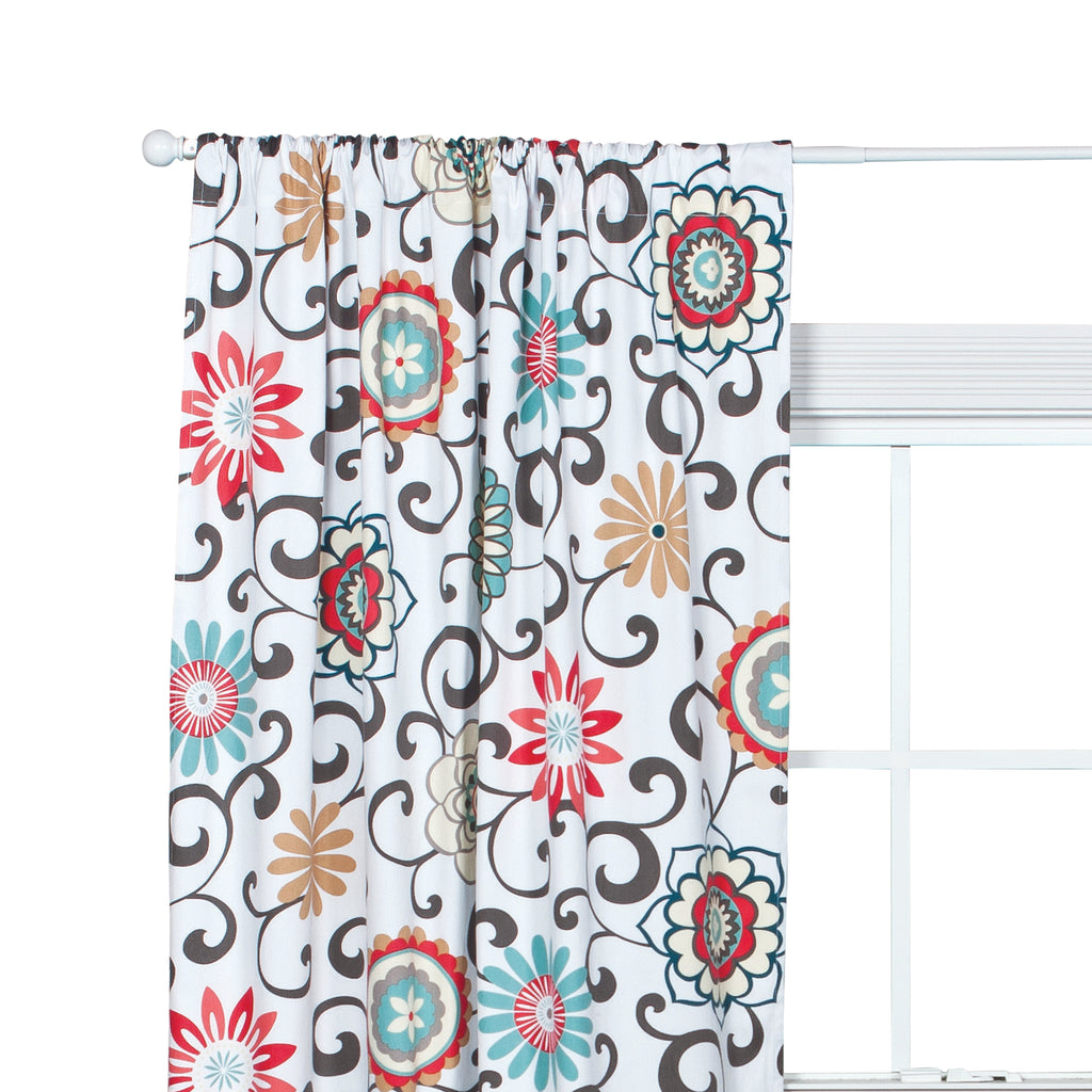Waverly® Pom Pom Play Floral Window Drape Trend Lab, LLC