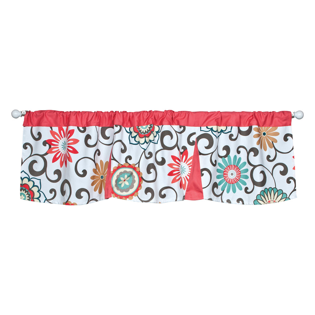 Waverly® Pom Pom Play Floral Window Valance Trend Lab, LLC
