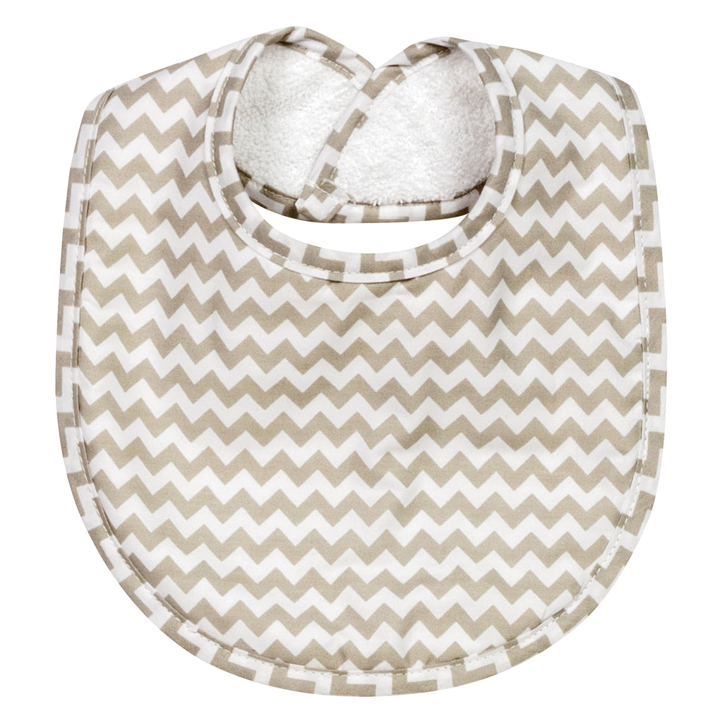 Dove Gray Chevron Bibs - 24-Pack Trend Lab, LLC