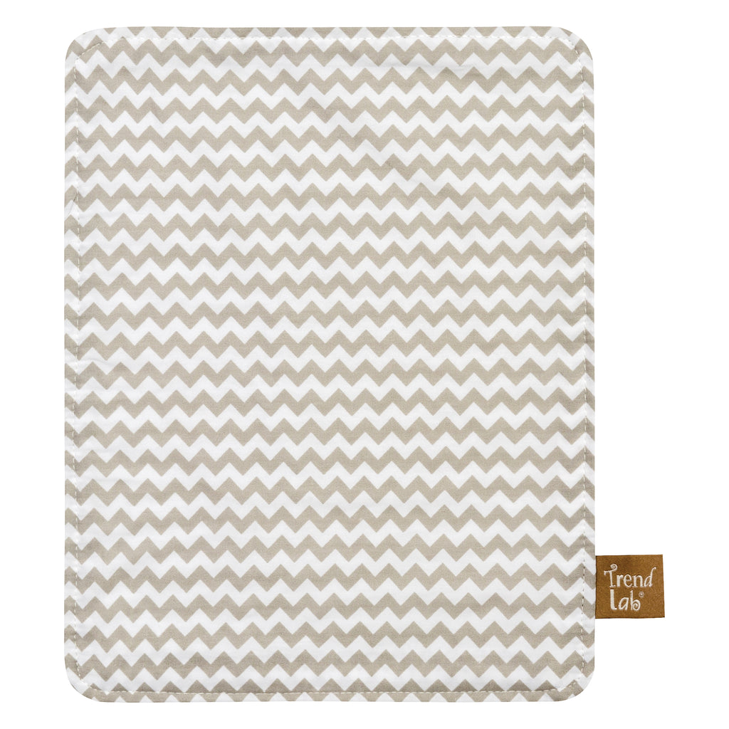 Dove Gray Chevron Burp Cloths - 24-Pack Trend Lab, LLC