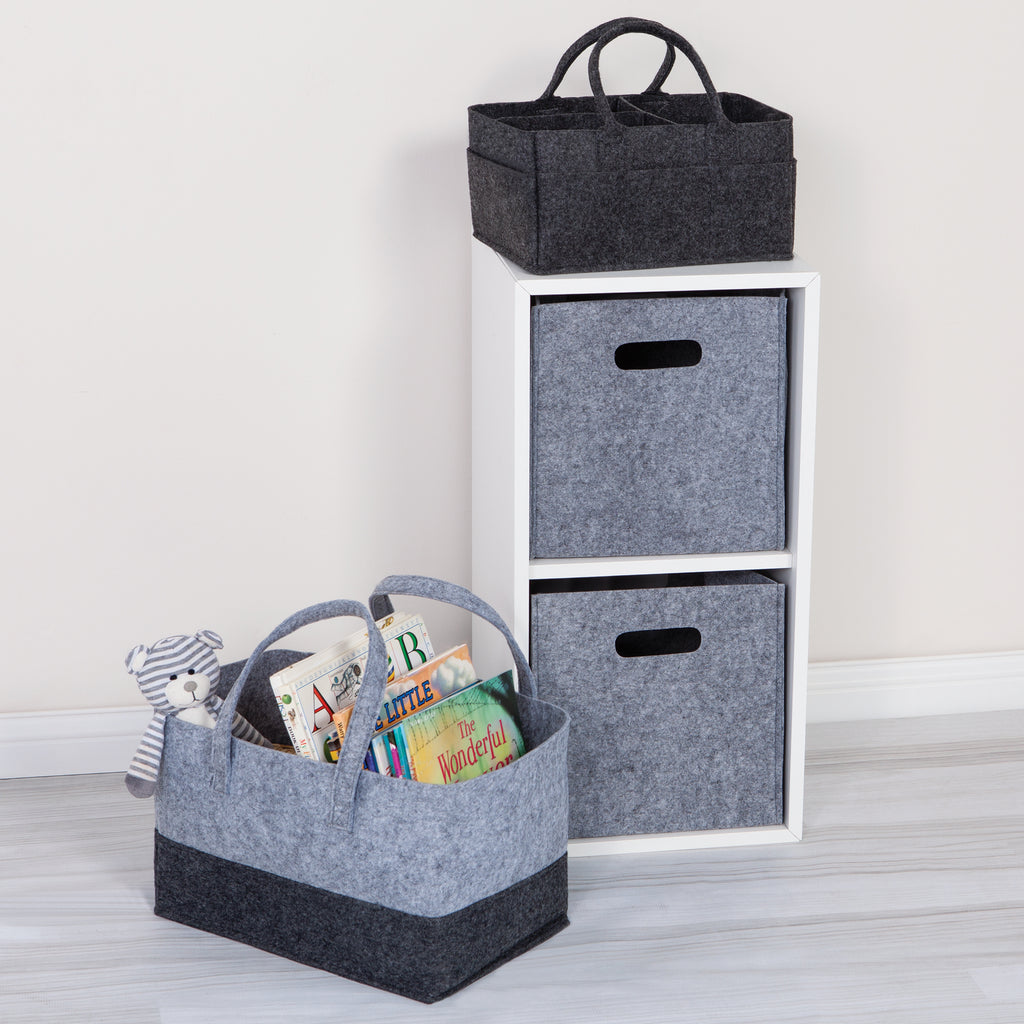Light Gray Felt Storage Cube Trend Lab, LLC