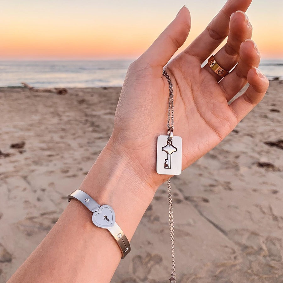 The Promise Bracelet & Key Necklace