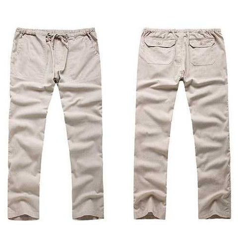 Chinese Style Cotton Linen Casual Pants