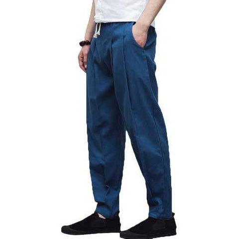 Chinese Style Cotton Linen Harem Pants