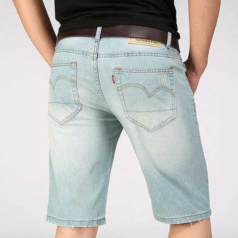 Retro Holes Thin Short Jeans