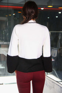 Polar Detailed Sleeves Bi-Color Tricot
