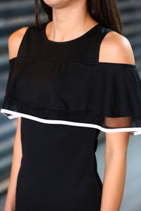 Open Shoulders Black Dress
