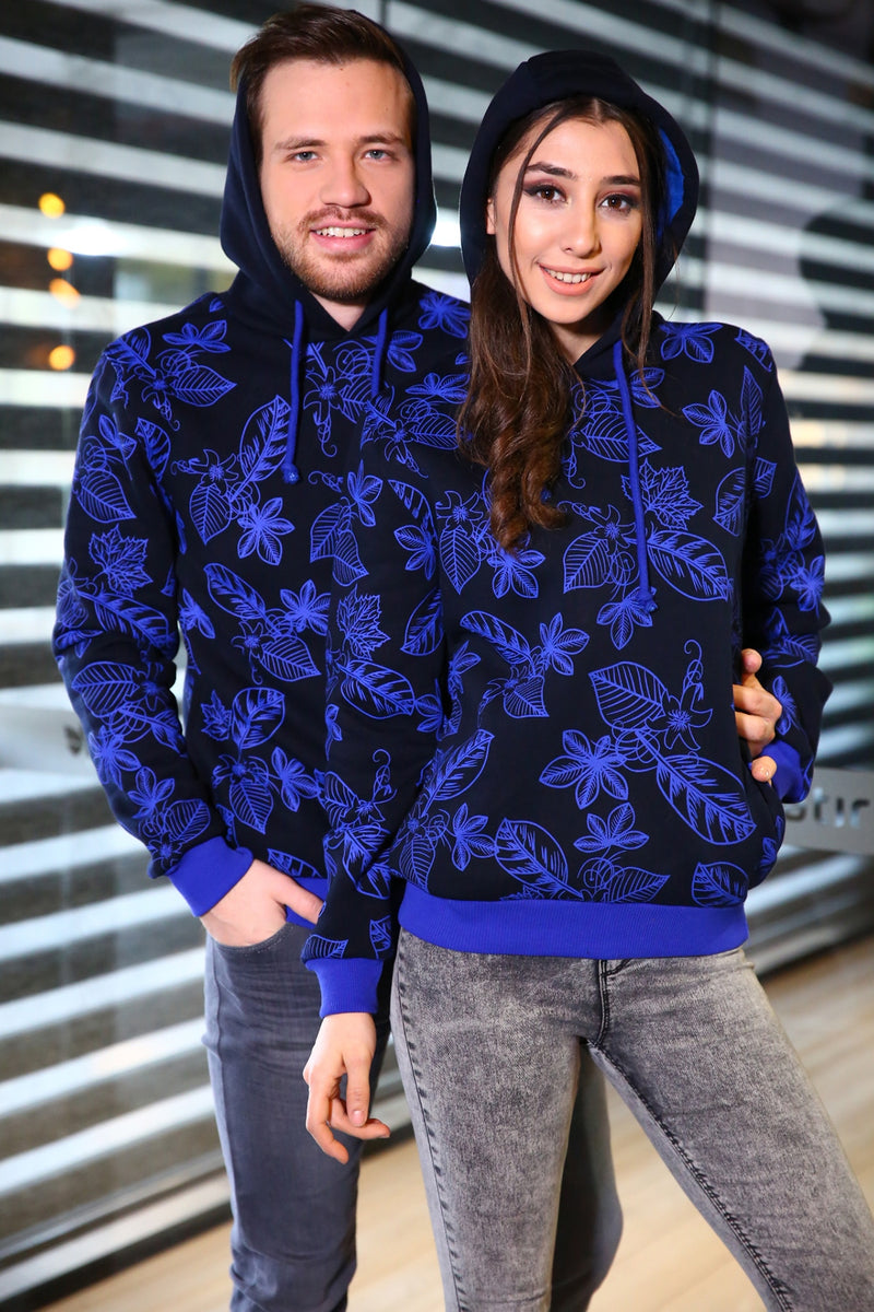Patterned Hooded Unisex Sweat