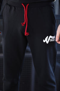 Front Printed Black Training Suit Set
