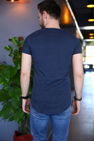 Printed Navy Blue T-shirt