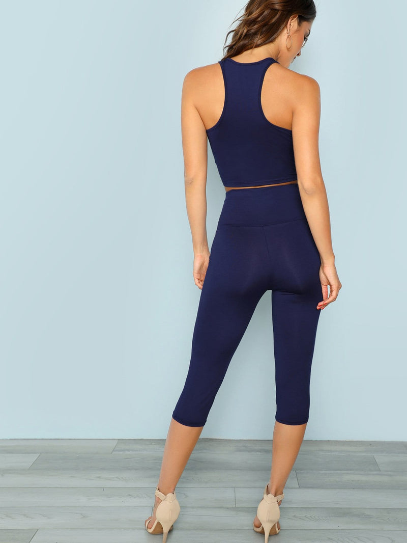 Racerback Tank Top & Leggings Set