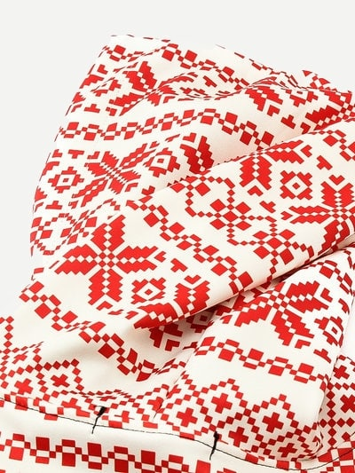 Men Christmas Fairisle Print Hooded Sweatshirt