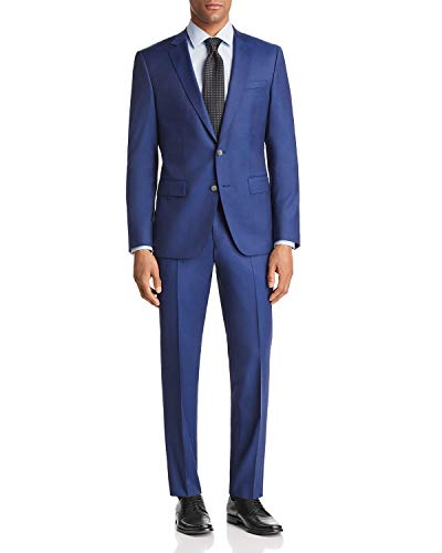 Hugo Boss Men's 2 Piece Slim Fit Wool Suit (44 Long USA Jacket /38 Waist Pants)