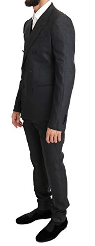 Dolce & Gabbana Gray Wool Silk Stretch Slim Fit Suit