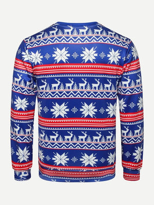 Men Christmas Fairisle Print Sweatshirt