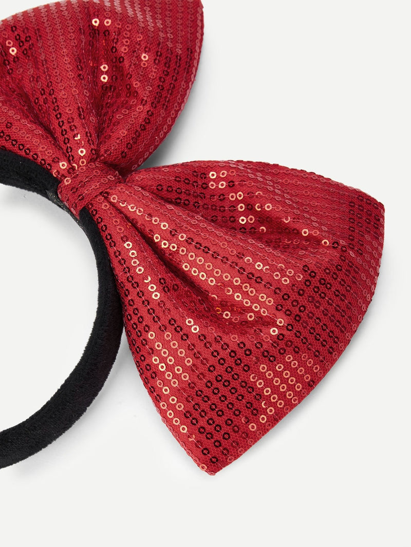 Christmas Girls Sequin Bow Decorated Headband