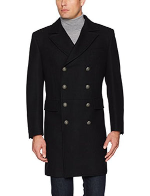 Men's Victor Double Breasted Wool Blend Coat