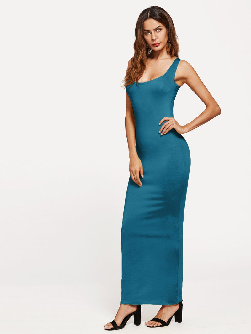 Scoop Neck Sheath Tank Dress