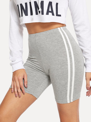 Contrast Striped Side Cycling Shorts
