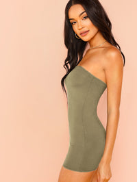 Form Fitting Strapless Romper