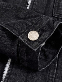Men Shearling Lined Denim Jacket