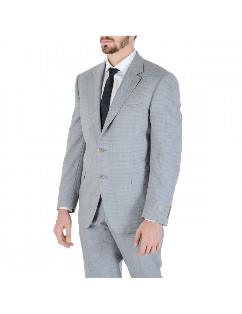 Canali Mens Suit Long Sleeves Light Grey