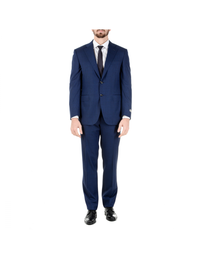 Canali Mens Suit Long Sleeves Blue Super 150's