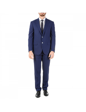 Corneliani Mens Suit Long Sleeves Blue Super 110's