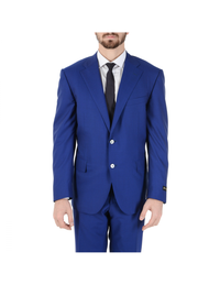 Corneliani Mens Suit Long Sleeves Blue Super 160's