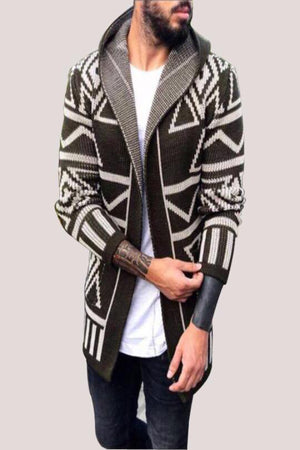 Slim Fit European Styled Cardigan With Hoody