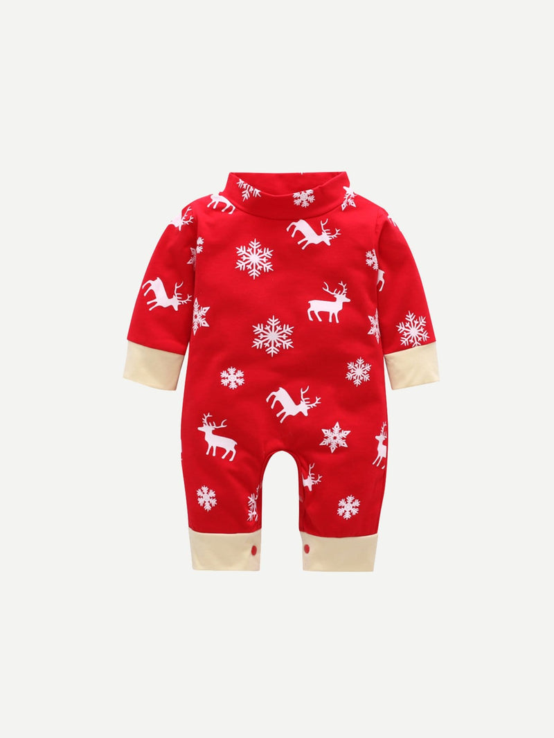Toddler Boys Christmas Print Jumpsuit