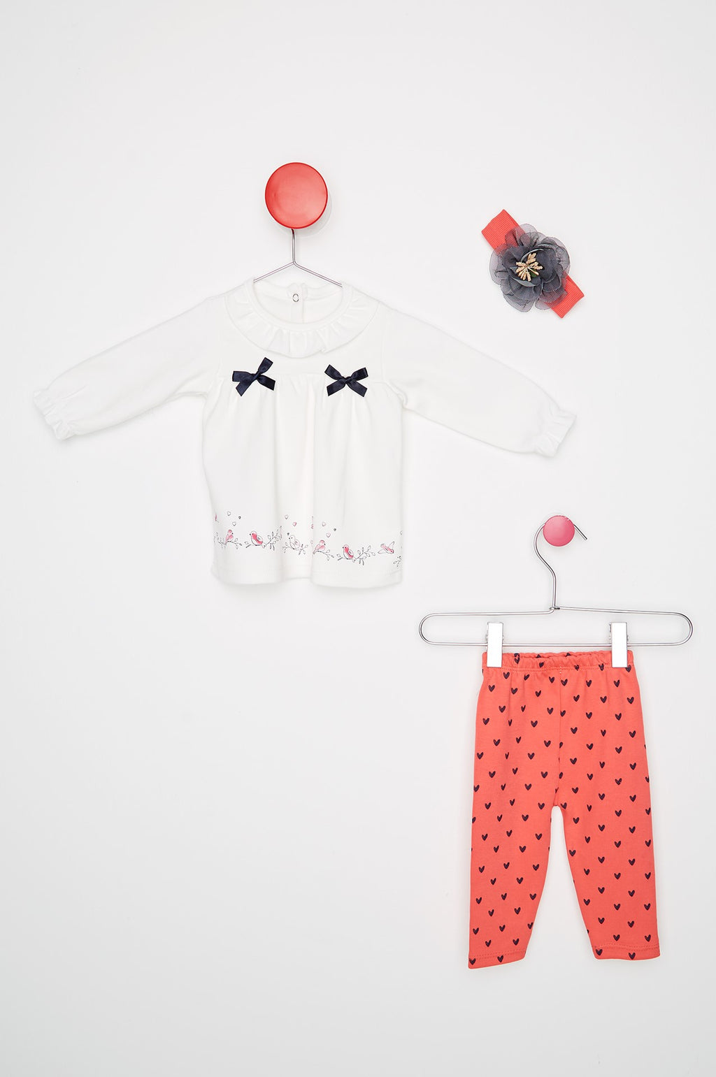 Kid's Printed Coral Pajama Set