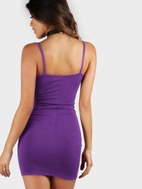 Form Fitting Solid Cami Dress