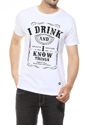 I Drink and I know Things - White Men's T Shirt