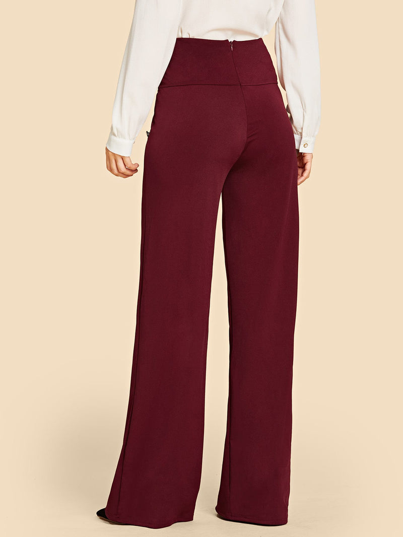 Double Button Wide Leg Pants