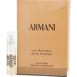 ARMANI EAU D'AROMES by Giorgio Armani EDT SPRAY VIAL ON CARD