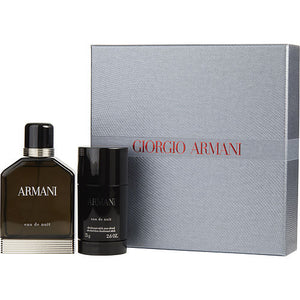 ARMANI EAU DE NUIT by Giorgio Armani EDT SPRAY 3.4 OZ & ALCOHOL FRE DEODORANT STICK 2.5 OZ