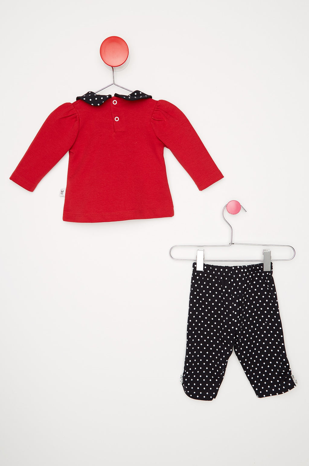 Kid's Dotted Red Pajama Set