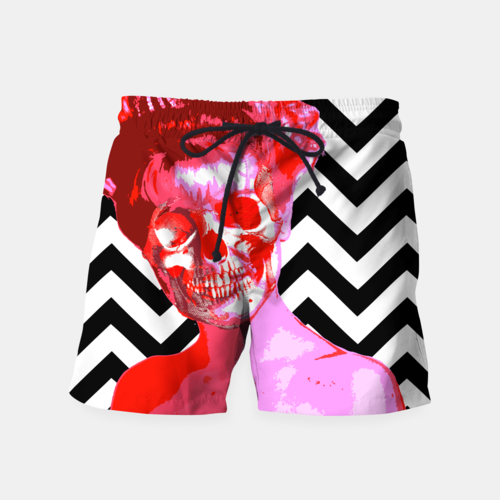 Laura Palmer Fire Bubblegum Swim Shorts
