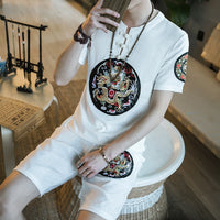 Dragon Embroidery Mens Clothing