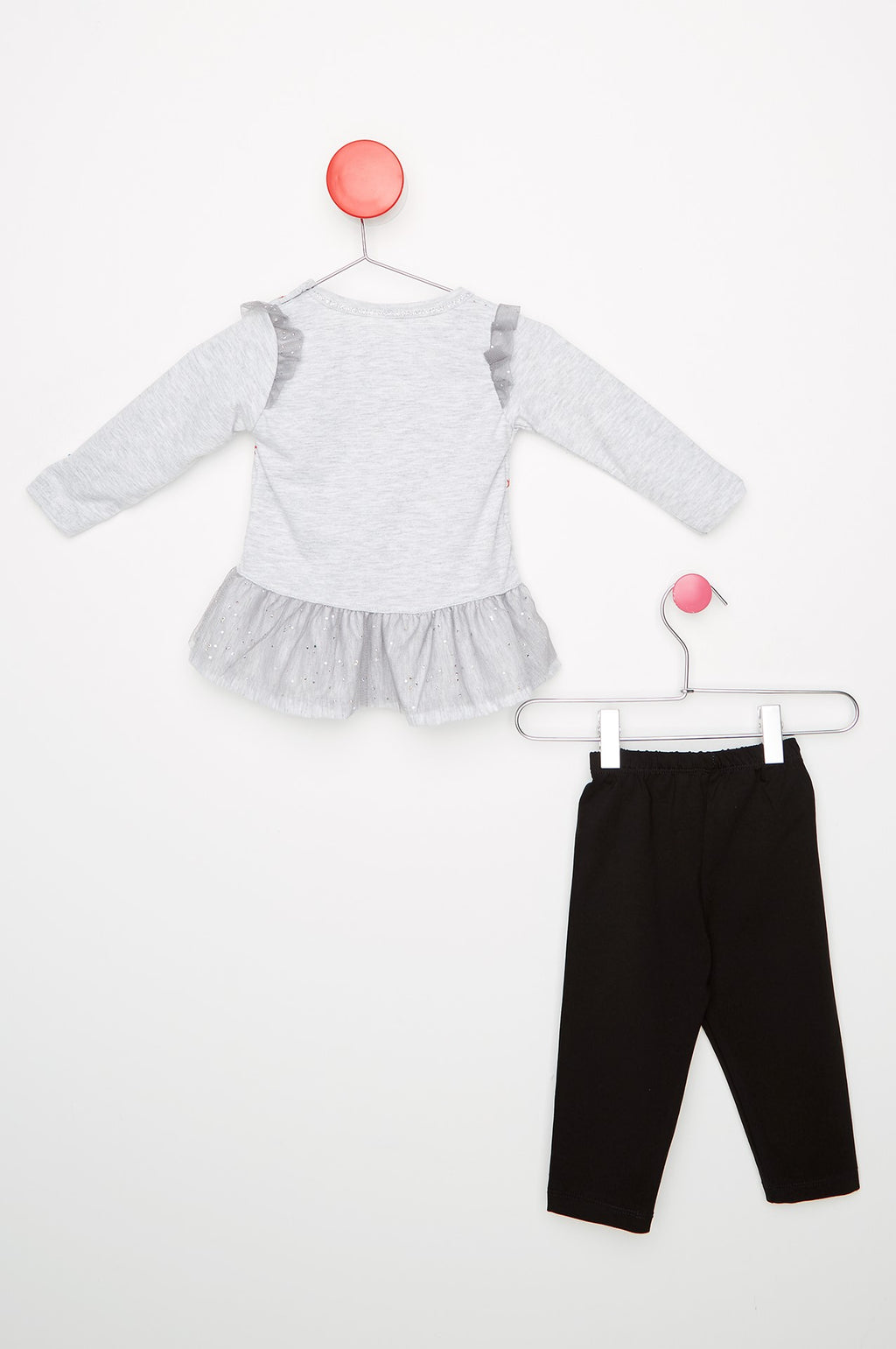 Kid's Tulle Detailed Black Set