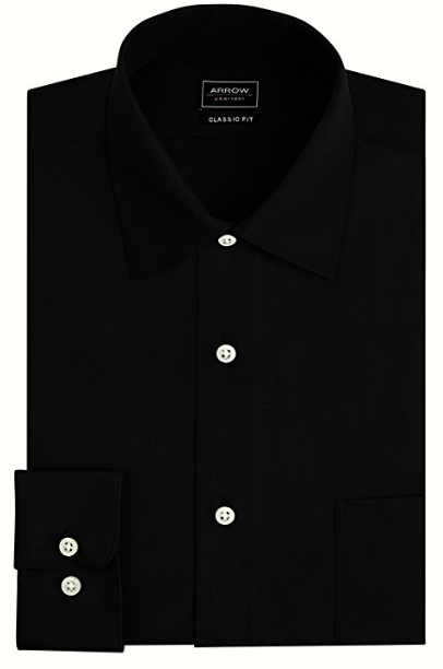 ARROW WRINKLE FREE SATEEN SOLID SHIRT