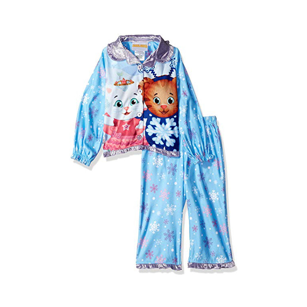 Daniel Tiger Girls' Toddler Button Down Pajama Set