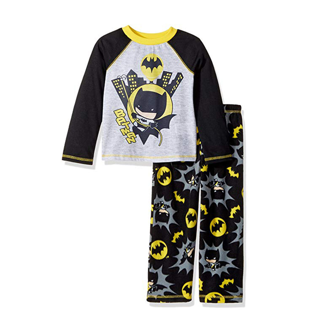 DC COMICS BATMAN BIG BOYS' 2 PIECE SLEEP SET