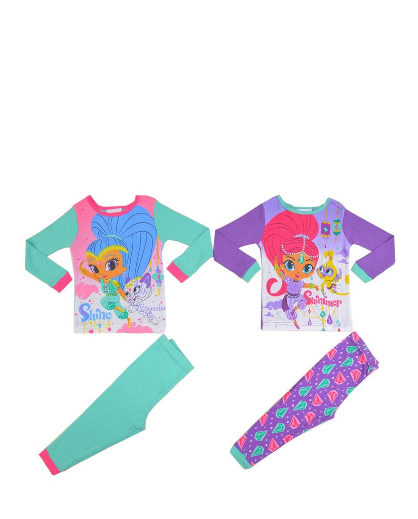 NICKELODEON SHIMMER & SHINE GIRLS PAJAMA SET