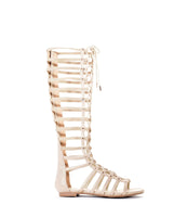 Faux Suede Lace Up Gladiator Sandal